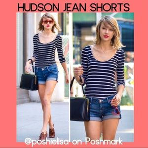 NWT Hudson Denim Cuffed Shorts